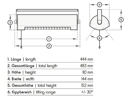 Dimensionen Solamagic 1400